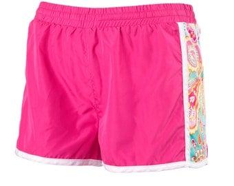 Summer Paisley Active Shorts