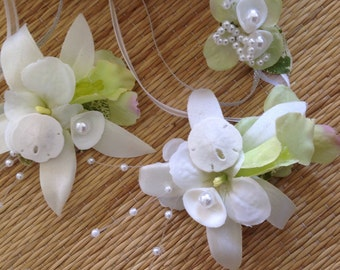 Mixed Seashell and Bling Hair Clips for Special Events You Choose the Color Trim