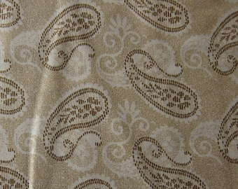 Destash Fabric by the yard - Caramel Paisley - quilting fabric - 100% Cotton