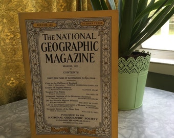 Vintage Magazine, National Geographic, March 1931