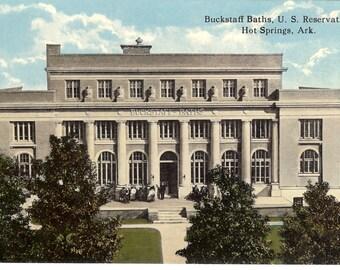 Vintage Postcard...Buckstaff Baths, U. S. Reservation, Hot Springs, Arkansas..Unused...no. 3513
