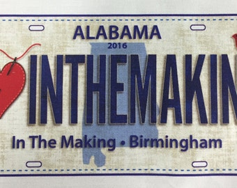Row by Row 2016 Fabric License Plate for In the Making - shopinthemaking