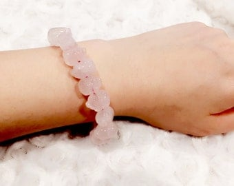 Rose Quartz Stretchable Bracelet
