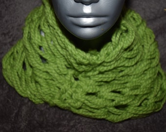 Arm Knitted Cowl/Infinity Scarf. Handmade. Ready to Ship from the UK.