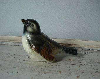 Vintage Ceramic Bird/West German Bird/hand painted bird