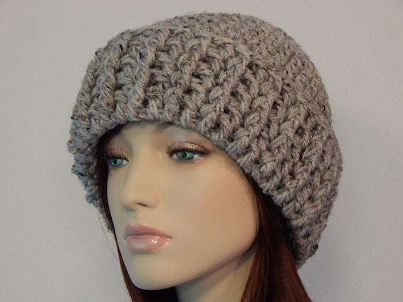Crochet Hat Patterns With Cuff : Crochet PATTERN PDF The Brimmed Beanie Folded Cuff Hat