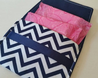 Sanitary Pad Holder- Blue chevron