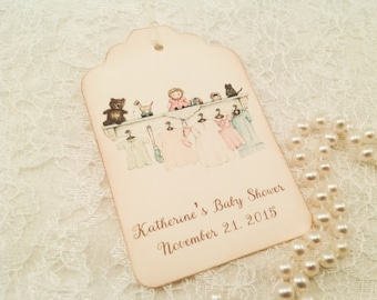 Personalized Gender Neutral Baby Shower Thank You Tags-Boy or Girl Customized Tags and Labels