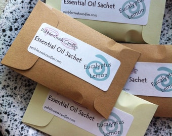 Eucalyptus Aromatherapy Sachets Oil Essential Natural Home Scents Eco Friendly Gift Favors Event Custom Promotional Products