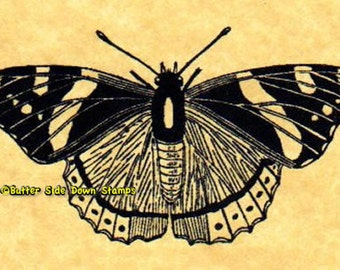 Red Admiral Butterfly Rubber Stamp