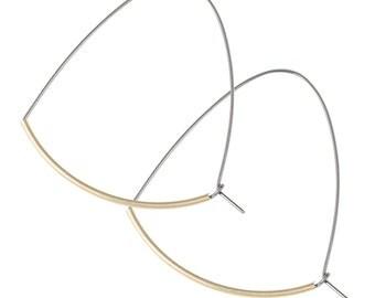 Brass and Niobium Large Everyday Hoop