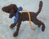 Chocolate poodle decoration.