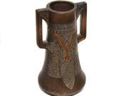 Edwardian Bretby Art Pottery Clanta Range Angular Vase Shape No 2420 F Henry Tooth Vintage Vase Antique Vase Art Nouveau Vase Home Decor