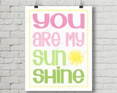 Printable Kids Sunshine Digital Subway Art Word Art Typography Decoration 11x14 and 8x10