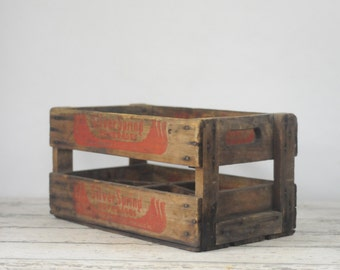 Wood Soda Pop Crate Silver Springs Spring Beverage Co 1963 Wood Soda Delivery Box