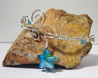 By the Sea Silver Wire Wrapped Bracelet