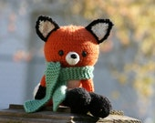 Knitted Fox Doll - MADE TO ORDER - Amigirumi Toy