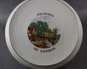 China Tea Pot Trivet Vintage Twinings John Constable Picture Staffordshire England