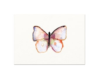 Watercolor Butterfly Print.