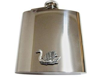 Swan Bird 6 oz. Stainless Steel Flask