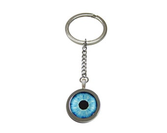 Blue Eye Design Keychain