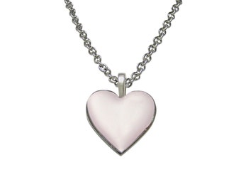 Pink Heart Love Pendant Necklace