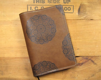 "5 ""X 7"" Refillable Leather Journal-Medallion"