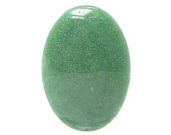 Green Quartz Aventurine Semi Precious Natural Gem Stone Oval flat back Cabochon, Large Polished Geo Gemstone, Semiprecious Jewel, DIY Craft