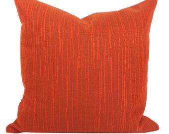"Vintage  Fabric Cushion Cover 16"" x 16"" Burnt Orange"