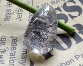 Natural Crystal Quartz with mossy Inclusions Pendant,Transparent Quartz,lodolite quartz,semi-precious stone pendant