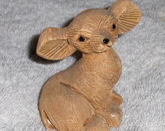 Vintage Puppy Dog Figurine 1980 Artesania Rinconada Uruguay Carved Chihuahua #114