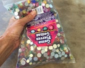 Clearance Sale! ONE Pound of Assorted Color ACRYLIC GEMS Assorted Mixed Sizes