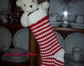 Private Order for Lena of Four Christmas Stocking in Red and White Herringbone