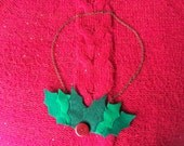 Holly Leaf Necklace