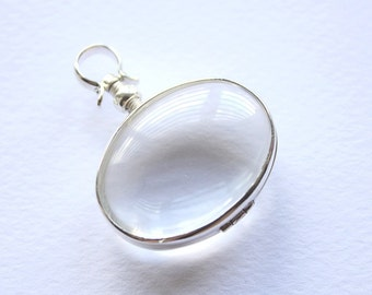Glass locket wholesale 10-20 pcs Made to order - Photo Locket Silver locket Wedding Bouquet Charm Bridesmaid gift Double sided glass locket