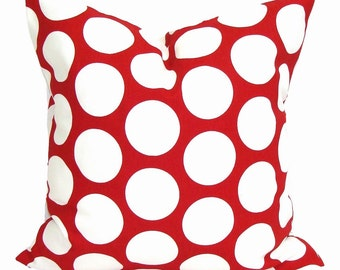RED PILLOW, 18x18 inch, Red Pillow Cover, Red Decorative Pillows, Red Pillow, Red Cushion, Christmas Decor, Minnie Mouse Pillow, Red Pillow