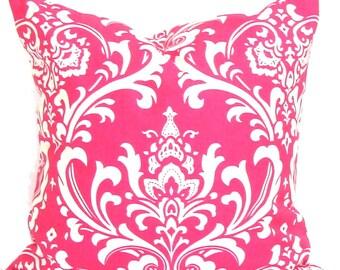 PINK Pillows.Pink Decorative Pillow Cover.Pink Decor.Pink Floral.Pink Damask.Pink Damask.Pink Floral Pillow. Pink Euro Sham.Pink Cushion, cm