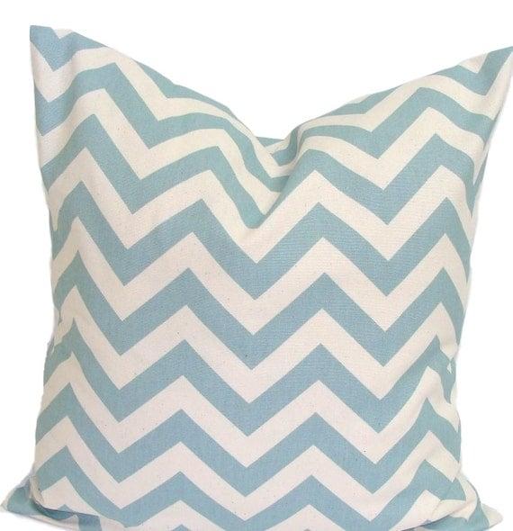 BLUE PILLOW SALE.18x18 inch.Decorative Pillow Cover.Housewares.Home Decor.Blue Chevron.Cm.Blue ZigZag.Cushion Cover.Housewares.Home Decor