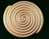 Swirl button, Gold tone -40mm or 34mm