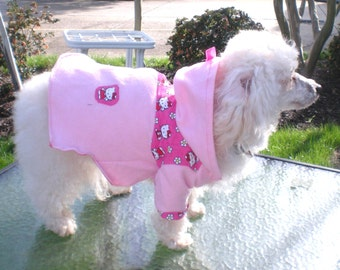 Dog Clothes, Dog Hoodie, Hello Kitty Dog Hoodie, Warm And Cozy Hoodie, Hood for extra warmth