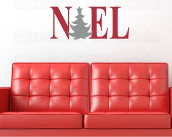NOEL - Christmas Decorations - Vinyl Wall Decal - Wall Art Quote - Vinyl Wall Sticker - Lettering - 9 x 22