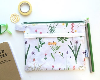 Botanical Divided Pouch Small (handmade philosophy's pattern)