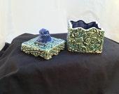 Green and Blue Handmade Ceramic Box