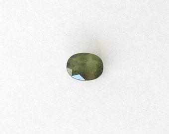 Genuine Green Sapphire, Oval Cut, 2.17 carats