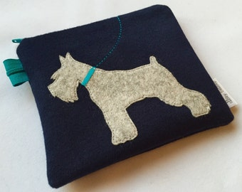 Miniature Schnauzer coin purse bag pouch