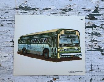Vintage bus print