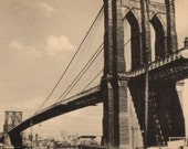 Vintage 1950s Kardolette Brooklyn Bridge Photo EXCELLENT UNUSED Condition