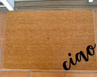 CIAO CORNER COIR Doormat  ... Hand Painted on a Coir Mat