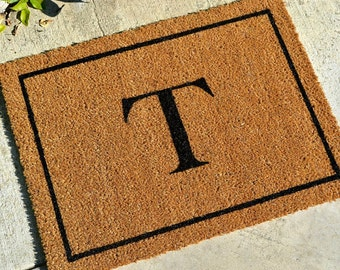 PERSONALIZED INITIALED  Doormat … Personalized & Hand Painted with Your Initial ... 2 SIZES