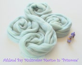 Multicolor Dyed Merino Top from Ashland Bay - 2 oz of 21.5 Micron Multicolor Combed Top for Spinning or Felting in Primrose - Soft Blue Meri